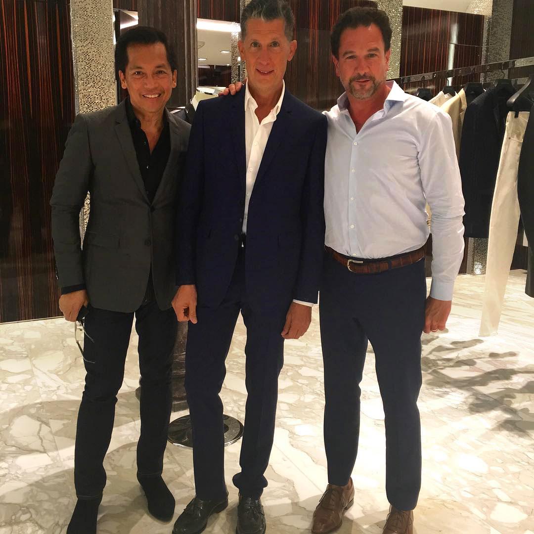 Outfitting W Magazine Editor Stefano Tonchi (center).